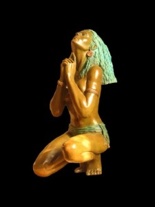 Sculpture bronze Amazonia