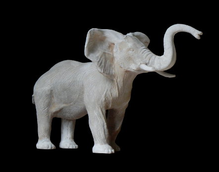 sculpture bronze éléphant