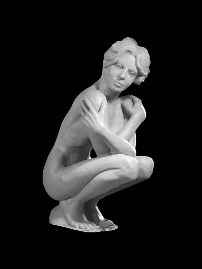 sculpture figurative en bronze